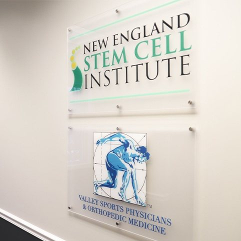 New England Stem Cell Institute and Valley Sports Physicians & Orthopedic Medicine signs